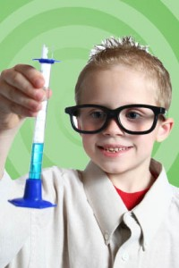 Young scientist at work